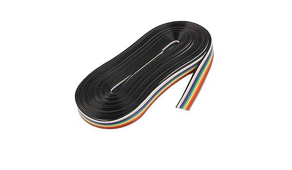 Cable de alambre de la cinta eDealMax 10M 10 pines color del arco iris de puente plano - - Amazon.com