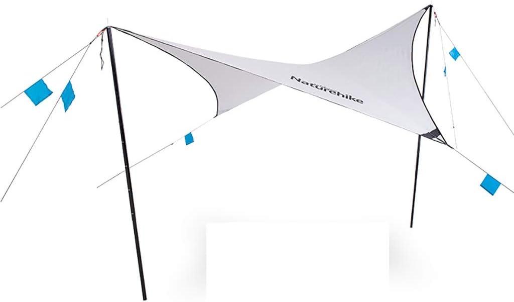 ダイヤモンド形のスカイカーテン超軽量ポータブルキャンプ日焼け止めキャノピー屋外のピクニックオーニング銀被覆サンプロテクション多機能テント