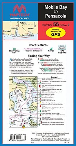 Maptech Waterproof Chart Mobile Bay to Pensacola, 2nd Edition