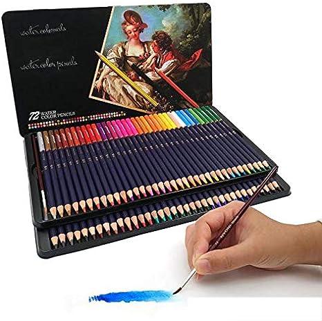 BESTNIFY 72 Lápices de Colores con Caja de Metal - 72 Colores Únicos Estuche de Lapices de Colores Profesional Adultos Niños con Caja de Metal: Amazon.es: Deportes y aire libre