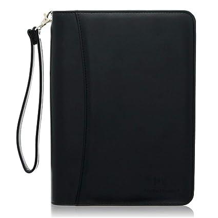 Mini con cremallera cartera de cartera portadocumentos de piel cartera de negocios – cartón y organizador