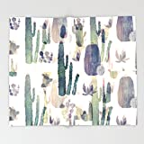 Society6 cactus mirror 2 Throw Blankets 88'' x 104'' Blanket