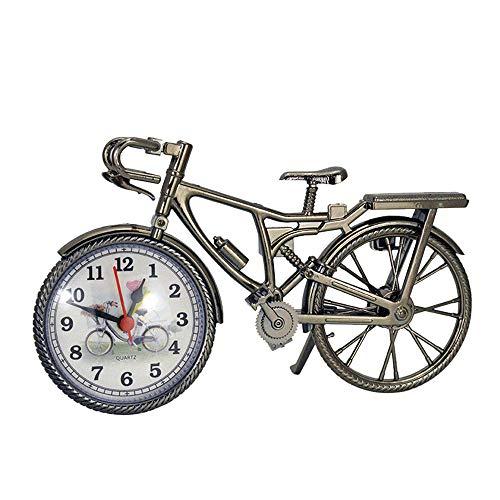 (CMrtew New Vintage Arabic Numeral Retro Bicycle Pattern Creative Alarm Clock Home Decor, 22cm x 13cm x 6cm)