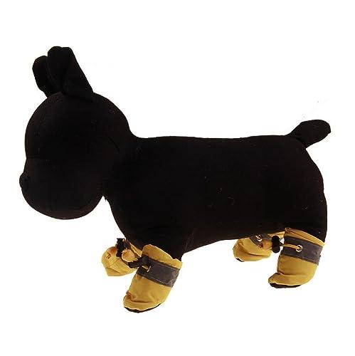 Zolimx 4X Nuevo Cómodo Anti-Deslizante Zapatos Cachorro Perro Gato Botas Zapatillas,3.5x2