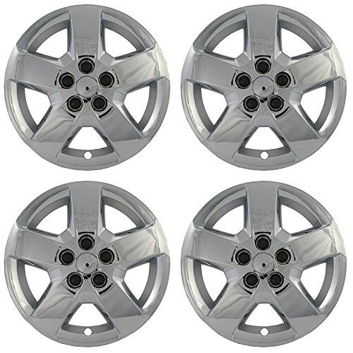 Hub-caps for 08-12 Chevrolet HHR (Pack of 4) Wheel Covers 16 inch Snap On Chrome