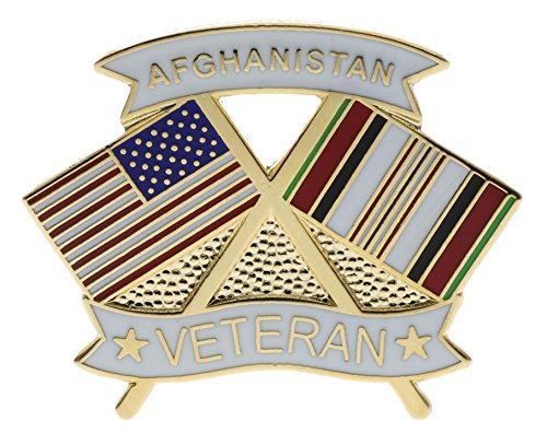 Sujak Military Items Afghanistan War Vet Veteran US Flag 1 1/4 inch hat Lapel pin HON14632
