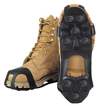 JD3500-XL - Men's Rubber Shoe Studs Black Size 12-1/2 to 14-1/2