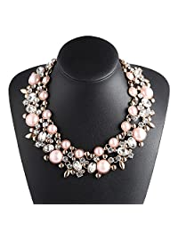 Holylove 4 Colors Costume Statement Necklace for Women Fashion Necklace with Gift Box