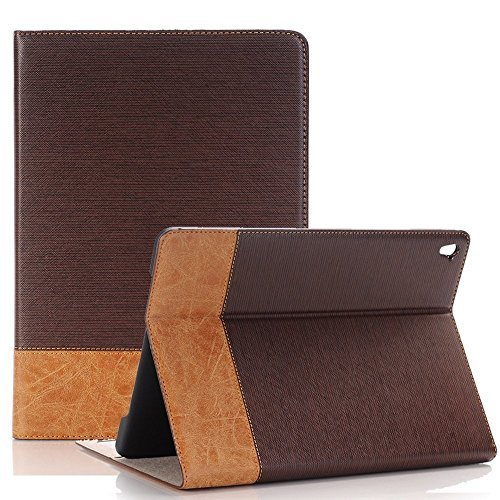 TechCode Galaxy Tab A 8.0 Case, Luxury Book Style Folio Cover Stand Magnetic Smart Case Cover for Samsung Galaxy Tab A 8.0 SM-T385 (4G / LTE) / SM-T380 (Wi-Fi) Tablet (Tab A 8.0 2017,Brown)
