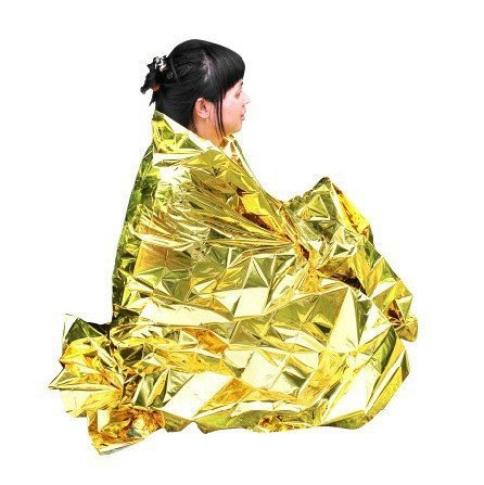 Primacare FB-6831 Emergency Foil Silver & Gold Mylar Thermal Blanket, 62