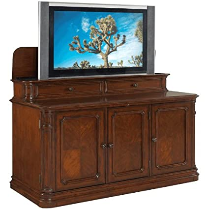 TV Lift Cabinet For 40 60 Inch Flat Screens (Stained) AT004310