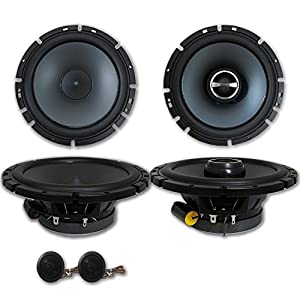 "Brand New Alpine Package 6.5"" 2-way Car Component system + 6-1/2"" 2-way Car Coaxial Speakers"