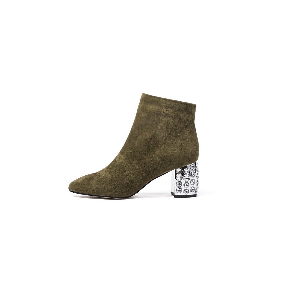Darco Gianni Mujer Chelsea Botas Negro Botines Invierno Cuero Zapatos Medio Bloque Tacon con Cremallera 40 EU