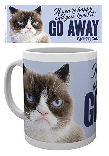 Set: Cats, Grumpy Cat, Go Away Photo Coffee Mug  And 1x 1art
