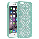 Vena [Tact Armor] Apple iPhone 6s Plus / 6 Plus Case [CornerGuard | Shock Absorption] Slim Hybrid Case Cover for iPhone 6s Plus / 6 Plus (Damask Teal)