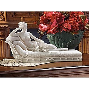 Design Toscano 1780-1825 Maria Paulin Borghese as  Venus Victorious  Bonded Marble Statue