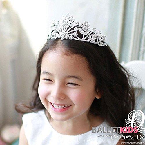 Generic Korea genuine parent-child children flower girl headband baby hair accessories bright rhinestones Senior crown tiara tiara hoop headdress