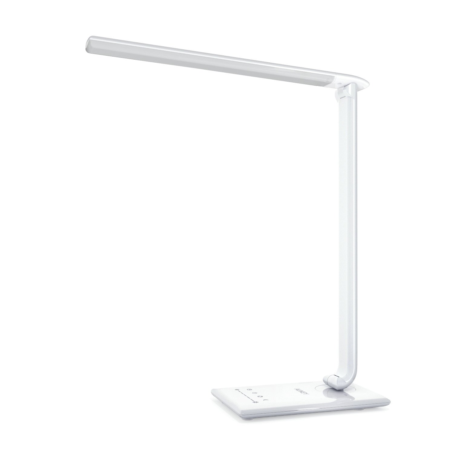 AUKEY Desk Lamp, 12W Dimmable LED Table Lamp with USB Charging Port, 7 Level Dimmer, Touch-Sensitive Control (White)