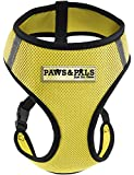 OxGord Pet Control Harness for Dog & Cat Easy Soft Walking Collar, Large, Yellow