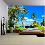 wall26 - Beautiful Golf Course Landscape in Miami. - Removable Wall Mural   Self-adhesive Large Wallpaper - 100x144 inches