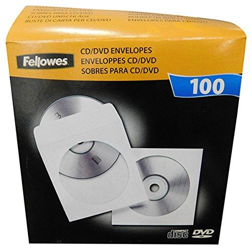 Fellowes 100 Pack CD DVD Paper ENVELOPES (90691) ()
