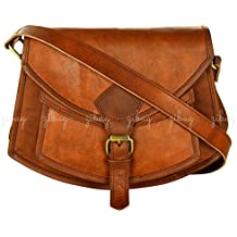 ZiBag Genuine Leather Handmade Vintage Cross Body Purse / Bag ~ Women Girl Fashion Everyday College Office School Travel Shoulder Sling ~ Rugged Distressed Handcrafted Leather Bag B02
