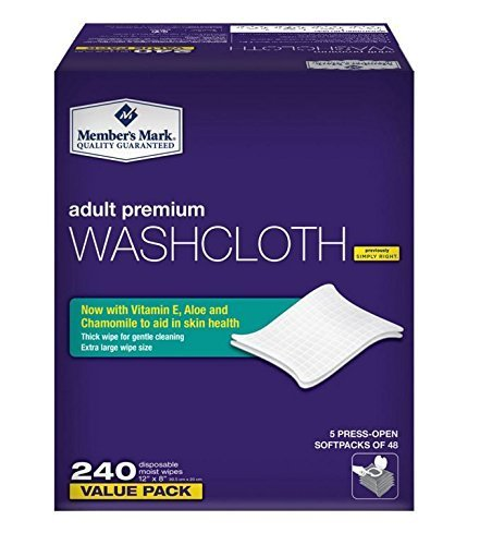 Simply Right Member's Mark Adult Wash-Cloths, 240 Count – Adult Incontinence Review
