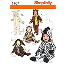 Simplicity Baby & Toddlers Sewing Pattern 1767 Hooded Animal Costumes