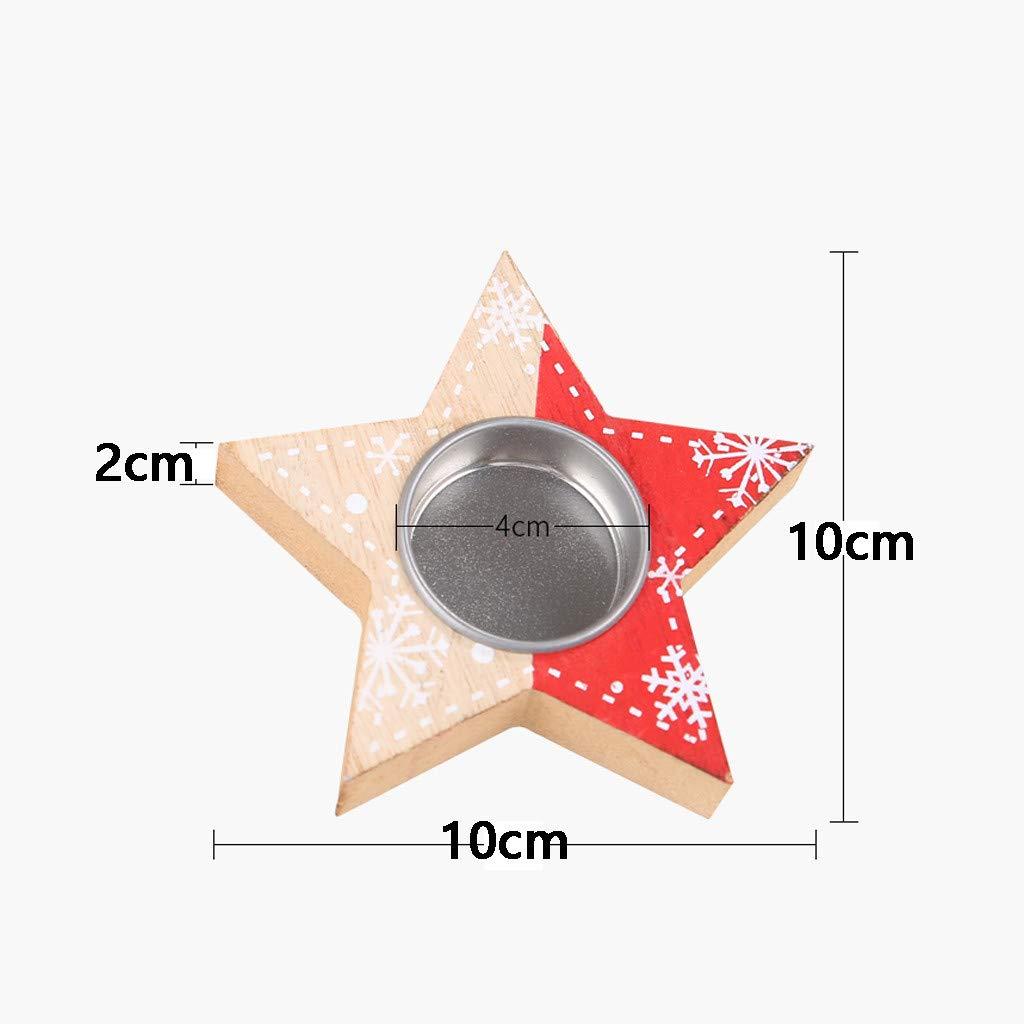 FiedFikt - Soporte para velas, diseño de Navidad, C, 33 cm ...