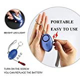 Personal Alarm,3 PACK FansArriche Emergency Alarm Keychain Safe Sound Safety Security Devices Self Defense Protection Alarms for Women/Kids/Girls/Elderly 130 DB with LED light (SILVER+BLUE+BLACK)