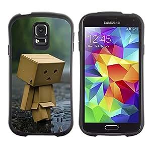 "Pulsar iFace Series Tpu silicona Carcasa Funda Case para Samsung Galaxy S5 , Toy Figurine Wood Forest Rain Arte Moderno"""