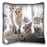 """Custom Animal Pillow Covers Bedding Accessories Size 16""""X16"""" suitable for X-Long Twin-bed"""