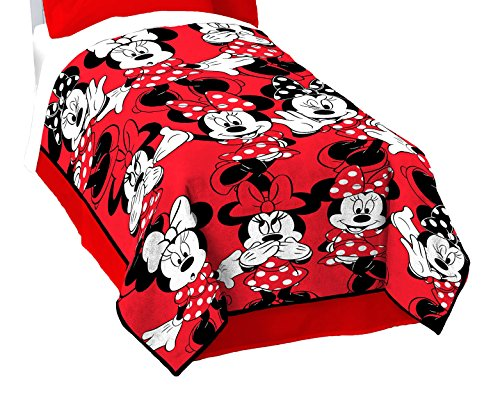 "Disney Minnie Mouse Classic Who Fleece 62"" x 90"" Twin Blanke"