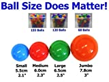 "My Balls by CMS Pack of 1000 2.5"" 65mm Ball Pit Balls in 5 Bright Colors - Crush-proof Air-Filled Soft Plastic, Phthalate & BPA Free"