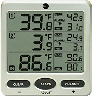 Amazon.com: Ambient Weather WS-08 Wireless Indoor/Outdoor 8 ...