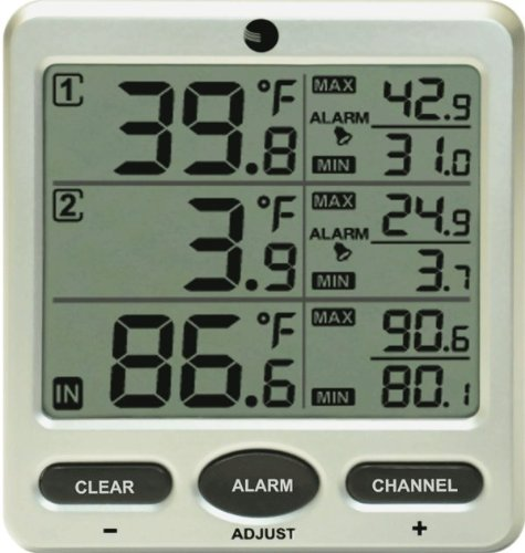 - Ambient Weather WS-09-C Wireless 8-Channel Thermometer Console with Min/Max Display