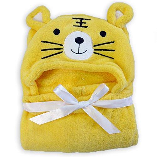 Baby Animal Face Hooded Bath Towel Shower Gift for Infant Boys Girls Newborn (Tiger Terry Bath Towel)