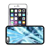 Luxlady Premium Apple iPhone 6 Plus iPhone 6S Plus Aluminum Backplate Bumper Snap Case IMAGE 19863052 Digital abstract shapes glowing in blue tones