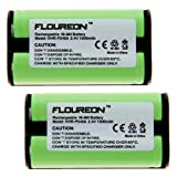 Floureon 2-Pack Replacement Cordless Phone Batteries for Vtech 2489, 2621, 2652, 5801, 5820, Office Central
