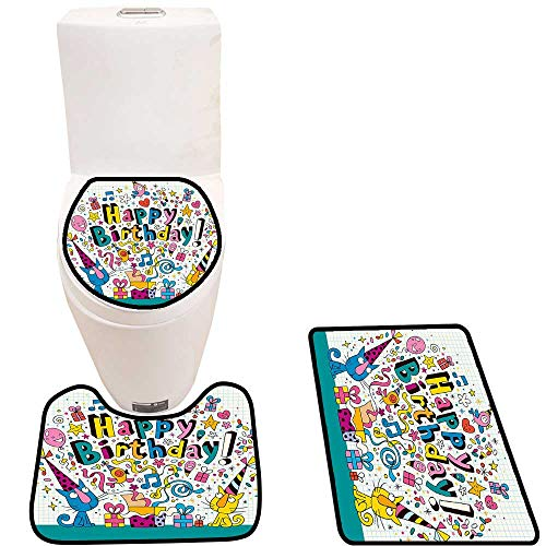 Lid Toilet Cover Kids Math Note Pad spired Animals Cats Pr ent Image Blue White Personalized Durable
