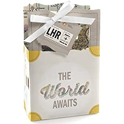 World Awaits - Travel Themed Party Favor Boxes - Set of 12