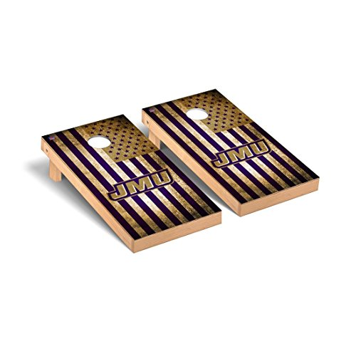 - James Madison JMU Dukes Regulation Cornhole Game Set Vintage Flag Version