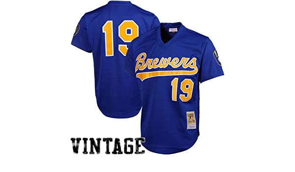 77aa7bd6 Amazon.com : MLB Mitchell & Ness Robin Yount Milwaukee Brewers 1991  Authentic Throwback Mesh Batting Practice Jersey - Royal Blue (XXXX-Large)  : Sports Fan ...