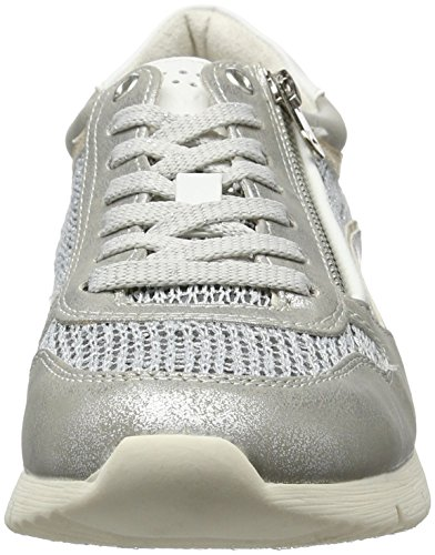 Tozzi 297 Grey Marco 23702 Grigio da Donna Metallic Scarpe Ginnastica Sw4O7n