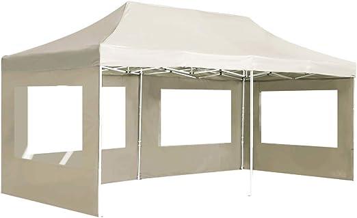 vidaXL Carpa Plegable Profesional con Paredes Aluminio Cenador Pagoda Pérgola Fiestas Celebraciones Estructuras Recintos Parasoles 6x3 m Crema: Amazon.es: Hogar
