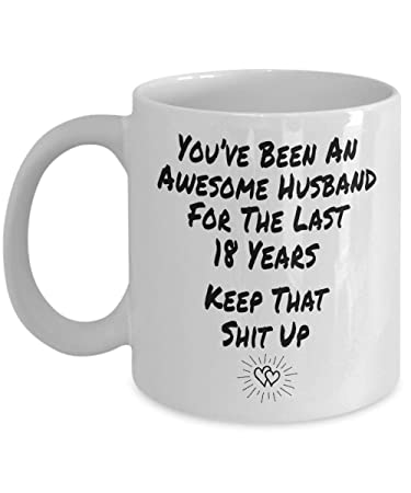 Amazoncom Funny 18 Years Anniversary Gift Ideas For