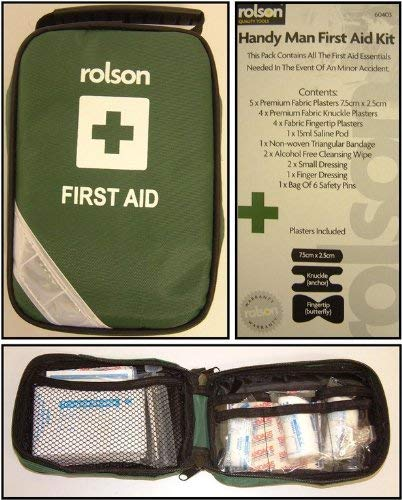 Rolson 60403 Family First Aid Kit in Pouch