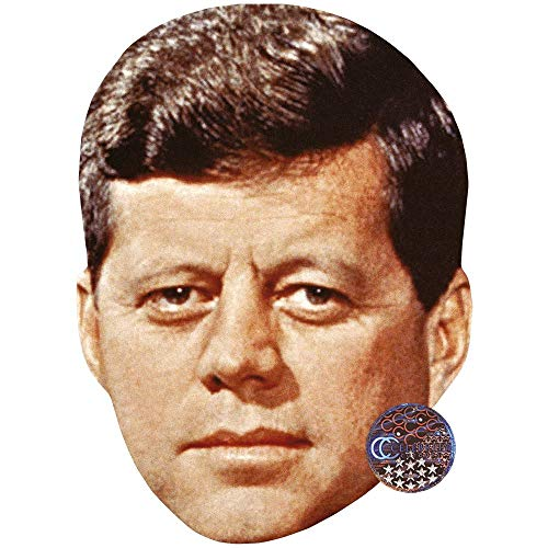 JFK (Brown Hair) Celebrity Mask, Card Face and Fancy Dress Mask ()