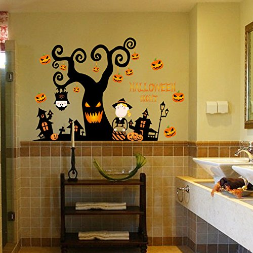 Home Decoration Wall Stickers Halloween Haunted House Elf Pumpkin Light Wall Sticker Window Sticker, 10572cmWall Sticker Decals Home Wall DIY Decors Self-adhesive wall art sticker bedroom, house.]()