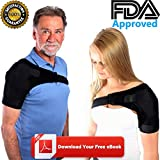 Fully Adjustable Shoulder Support Brace for Rotator Cuff, AC Joint, Pain Relief, Instability, Tendonitis, Arthritis: Premium Upper Arm Strap for Men, Women, Right, Left: Hot/Cold Pack Pocket